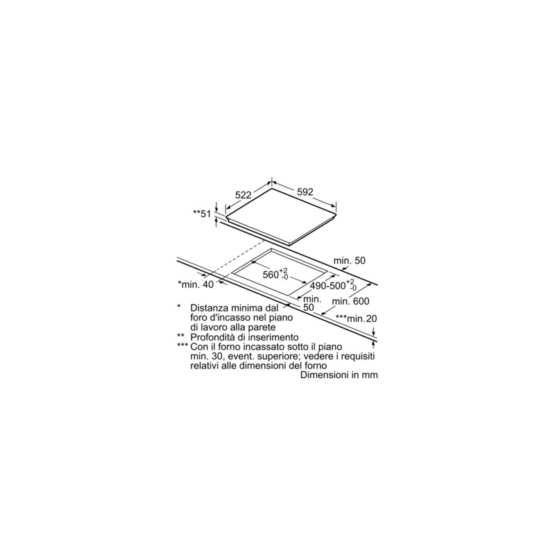 Bosch pia611b68j piano cottura ad induzione 60 cm for Piano cottura induzione bosch pia611b68j istruzioni