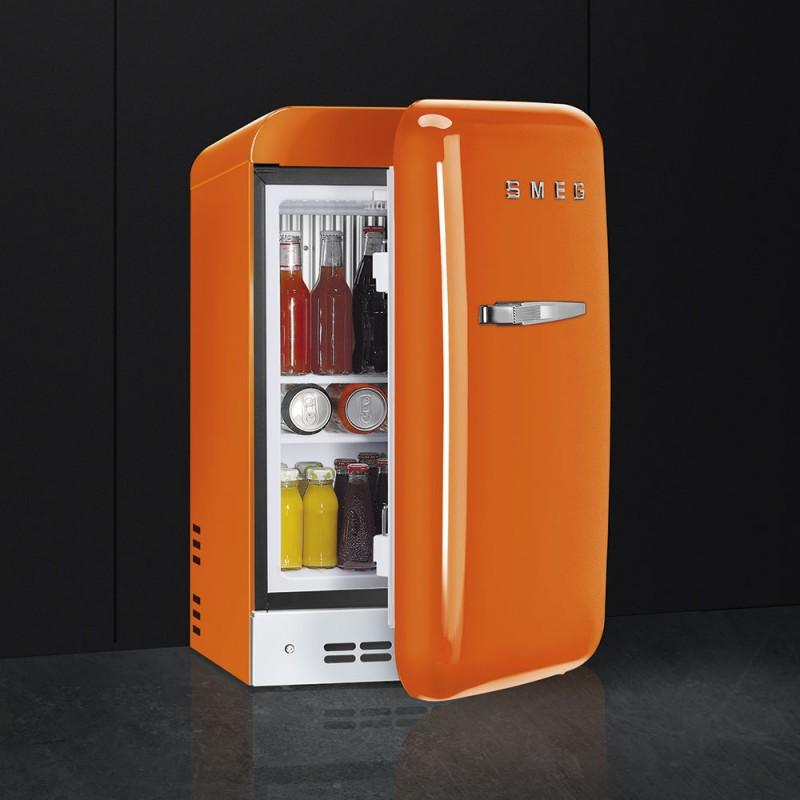 smeg FAB5ROR Minibar anni \'50, arancione, 40 cm.