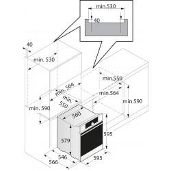 smeg Piano di cottura domino, 30 cm, SRV532X-3