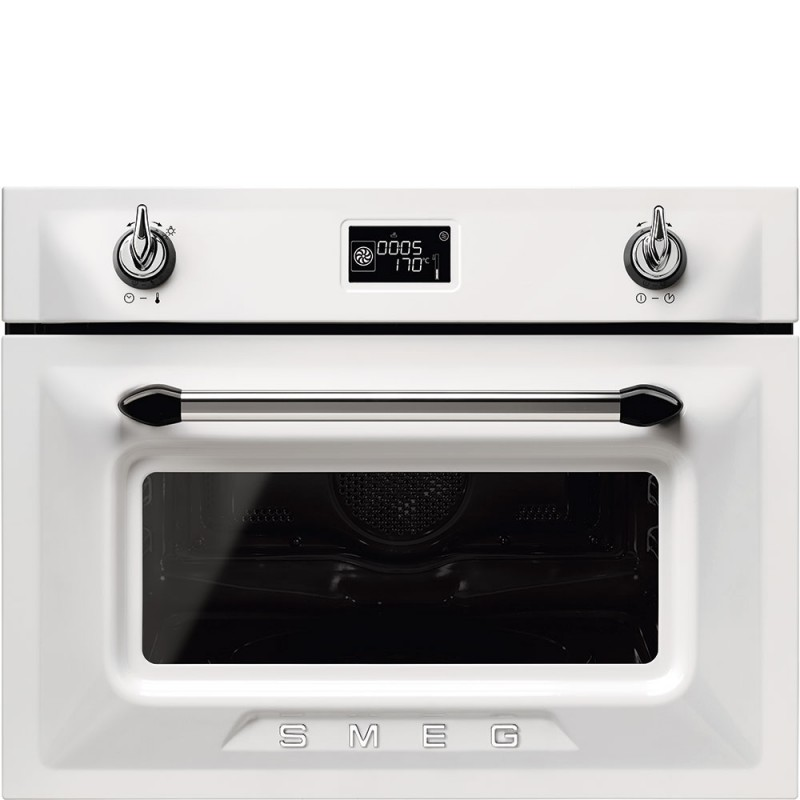 Smeg sf4920mcb1 forno compatto combinato microonde bianco - Forno combinato elettrico e microonde ...