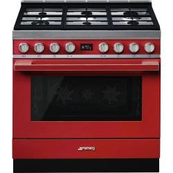 smeg portofino CPF9GMR Cucina Portofino  rosso
