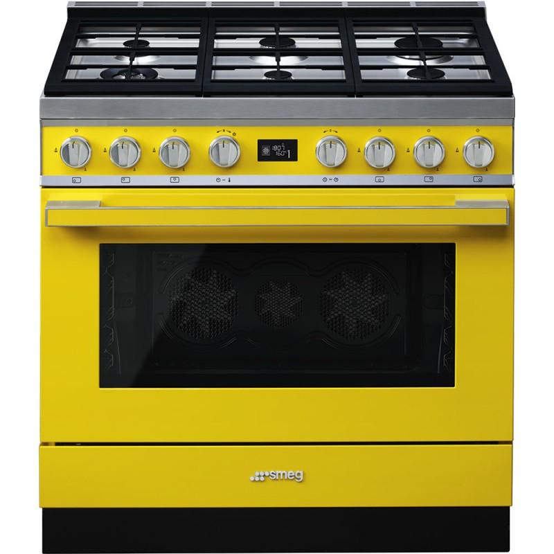 smeg portofino CPF9GMYW Cucina Portofino giallo 90x60 cm Classe A+