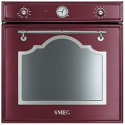 smeg sf750rwx Convection oven, 60 cm, Red Wine, Aesthetics Cortina