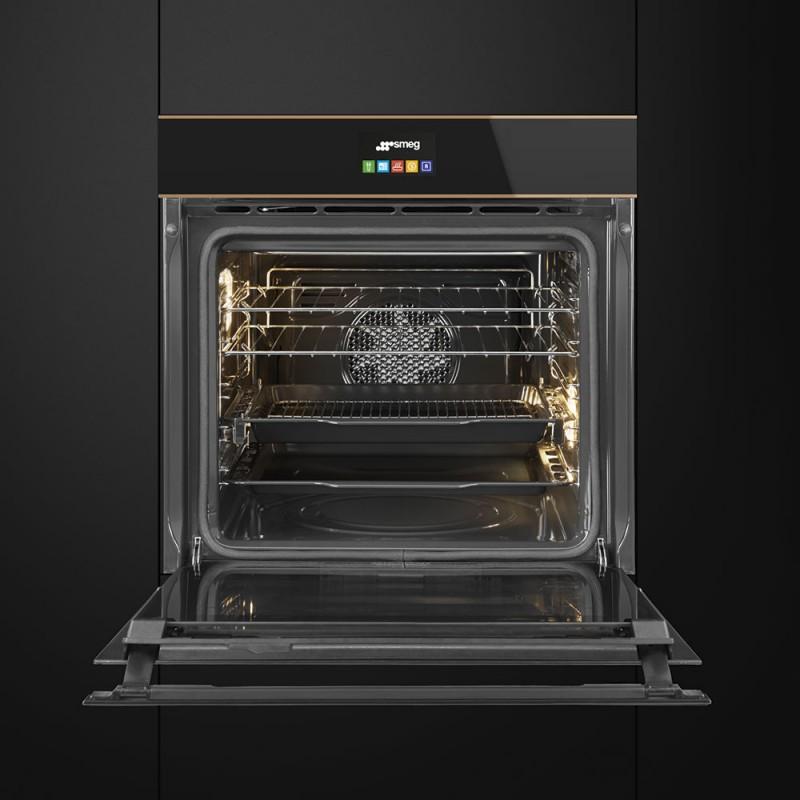 Smeg sfp6604stnr forno incasso pirolitico a vapore - Forno a microonde cottura a vapore ...
