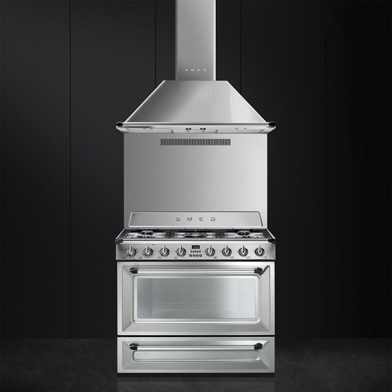 smeg TR90X9 Cucina Victoria 90x60 cm, acciaio inox - Cucine a Gas ...