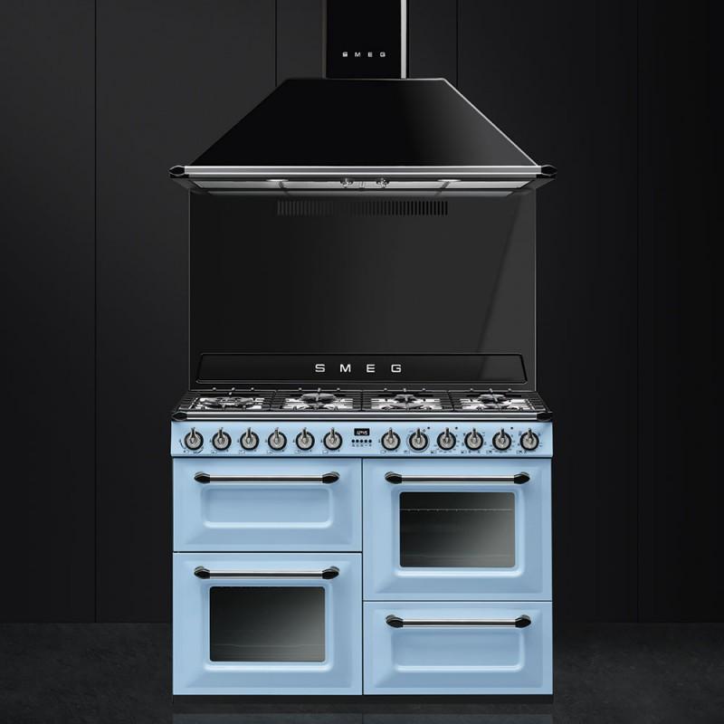Smeg kt110ble cappa a parete 110 cm nera - Smeg cappe cucina ...