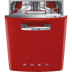smeg ST2FABRD2 Dishwasher Undermounted 50s, Red