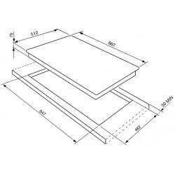 smeg PGF95-4 Piano di cottura a semifilo, 90 cm