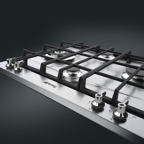 smeg P361XGH  Gas hob with Cast Iron pan stands