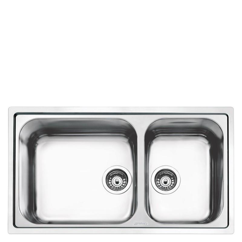 smeg lg862-2 Lavello da incasso in acciaio inox - Lavelli per cucina ...