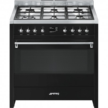 smeg a1bl-9 Cooker with Multifunction Oven and Gas Hob,
