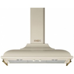smeg kc19poe Wall Hood, 90 cm, cream