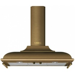 smeg kc19ote Wall Hood, 90 cm, brass
