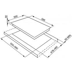 smeg SR264XGH2 Piano di cottura, 60 cm, inox