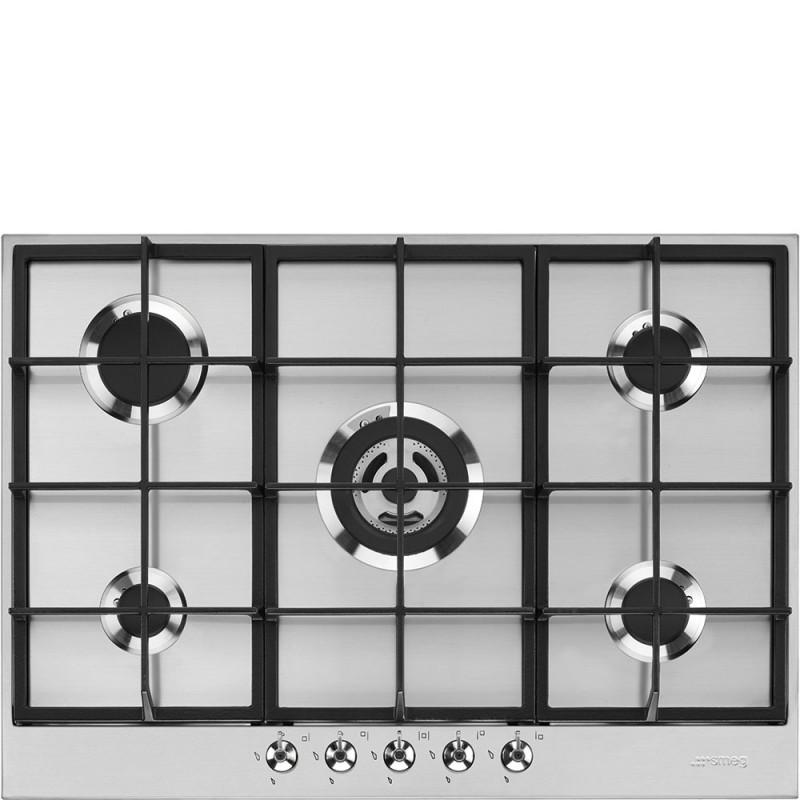 smeg PX375 Piano di cottura acciaio inox - Piani Cottura a gas ...