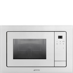 smeg fmi120b2 microwave oven, silver glass. aesthetic line