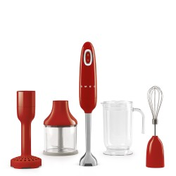 smeg HBF02RDEU Hand Blender, Red