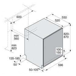 asko D 5556 SOF Fi LAVASTOVIGLIE XL A SCOMPARSA TOTALE