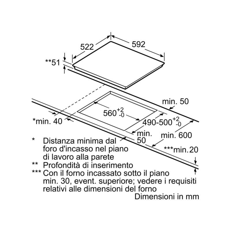 bosch PVQ651FC5E Piano cottura 60 cm - induzione - Dueg Store ...