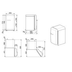 smeg FAB5RP3 Minibar