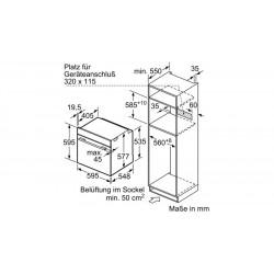 neff Piano gas a filo 80cm acciaio inox 80 cm T28V66N0