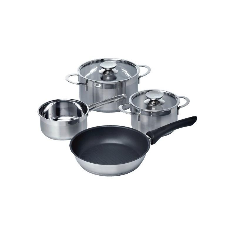 Hz390042 set pentole per piani cottura induzione gas e elettrici - Pentole per cucine a induzione ...