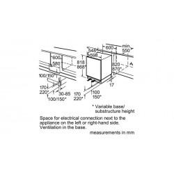 Frigorifero sottopiano Integrabile con porta con cerniera piatta,KU15RA60