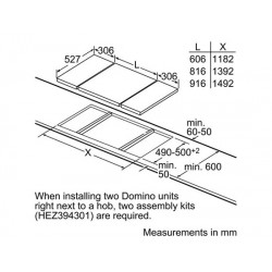 Piano cottura ad induzione 30 cm - Domino vetroceramica  PIE375C14E