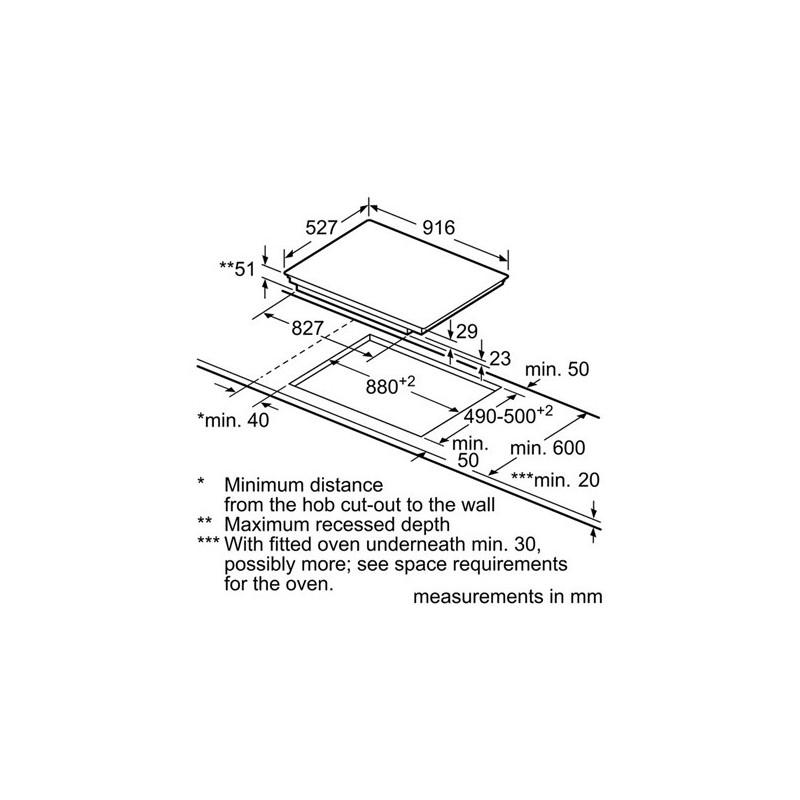 bosch PIZ975N17E Piano cottura ad induzione 90 cm Sensor Plus