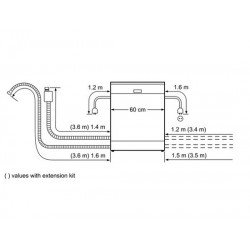 bosch Lavastoviglie 60 cm ActiveWater Integrabile inox ,SMI54M05EU