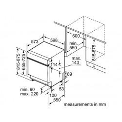 bosch Lavastoviglie 60 cm ActiveWater Integrabile inox ,SMI50E85EU