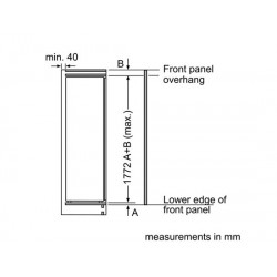bosch Frigorifero monoporta Porta con cerniera piatta,kir81af30
