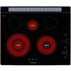 smalvic PVC-60 3G TC NERO HOB 60 cm