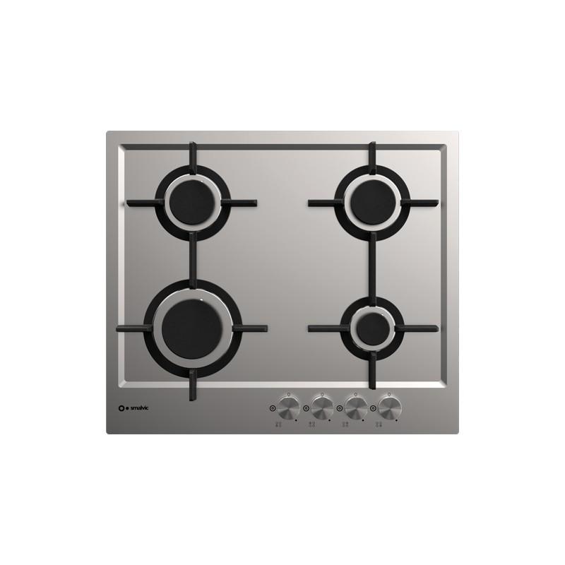 smalvic PFT-MF60 4G VS INOX GG piano cottura 60 cm