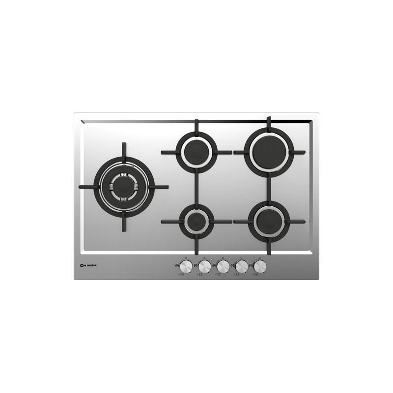 smalvic PFT-MF75 4GTCS VS INOX GG HOB 75 cm