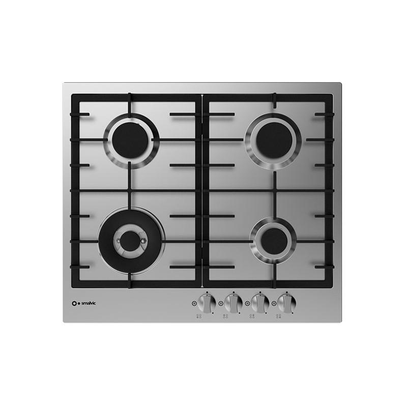 smalvic PS-MF60 3GTC VS INOX GG piano cottura 60 cm - Einbaugeräte ...