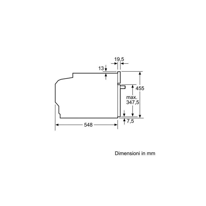 bosch cdg634bs1 acciaio inox steamer compatto. Black Bedroom Furniture Sets. Home Design Ideas