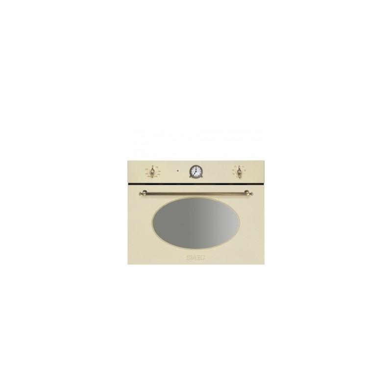 Smeg sf4800mpo forno compatto a microonde con grill panna - Micro onde smeg ...