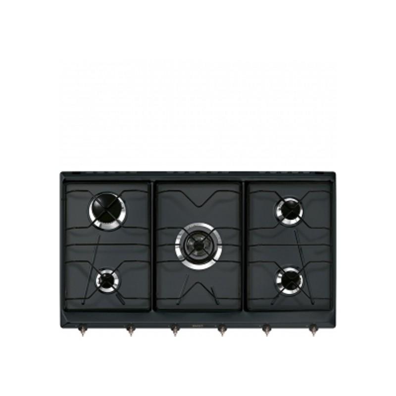 smeg SRV896AOGH Piano di cottura, 90 cm, antracite - Piani Cottura a ...