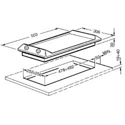 Piano di cottura domino, 30 cm, SEH530X1
