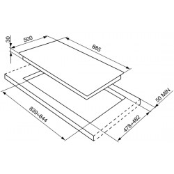 SMEG Piano di cottura, 90 cm, inox SRV596-5