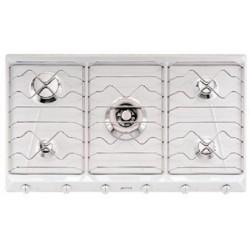 smeg SRV596EB7 Piano di cottura, 90 cm, bianco