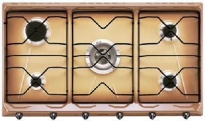 smeg Piano di cottura, 90 cm, inox. Estetica Classica.terra di francia