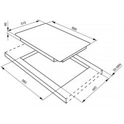 smeg se435s Piano di cottura, 60 cm, inox