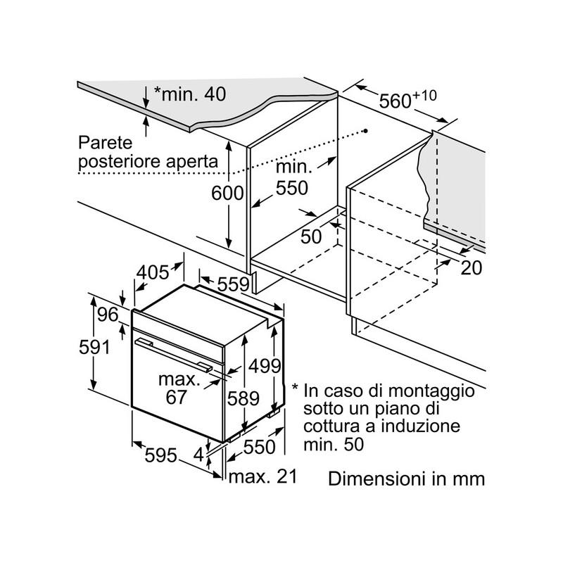 neff b15m42n5 forno multifunzione acciaio inox 8 funzioni. Black Bedroom Furniture Sets. Home Design Ideas