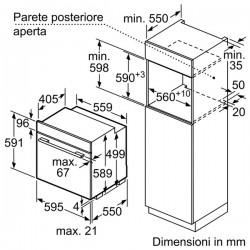 Forno Multifunzione acciaio inox A-20%  B12M32N3EU