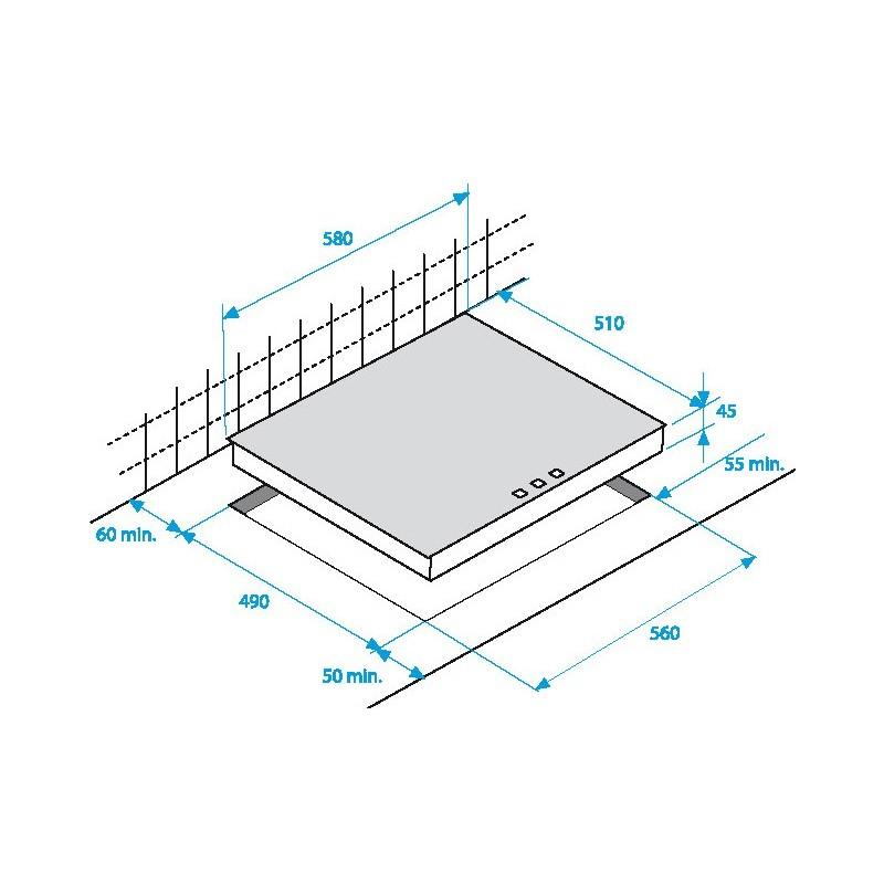Beko hii68600ptx piano cottura a induzione indyflex da 60 cm for Cottura a induzione