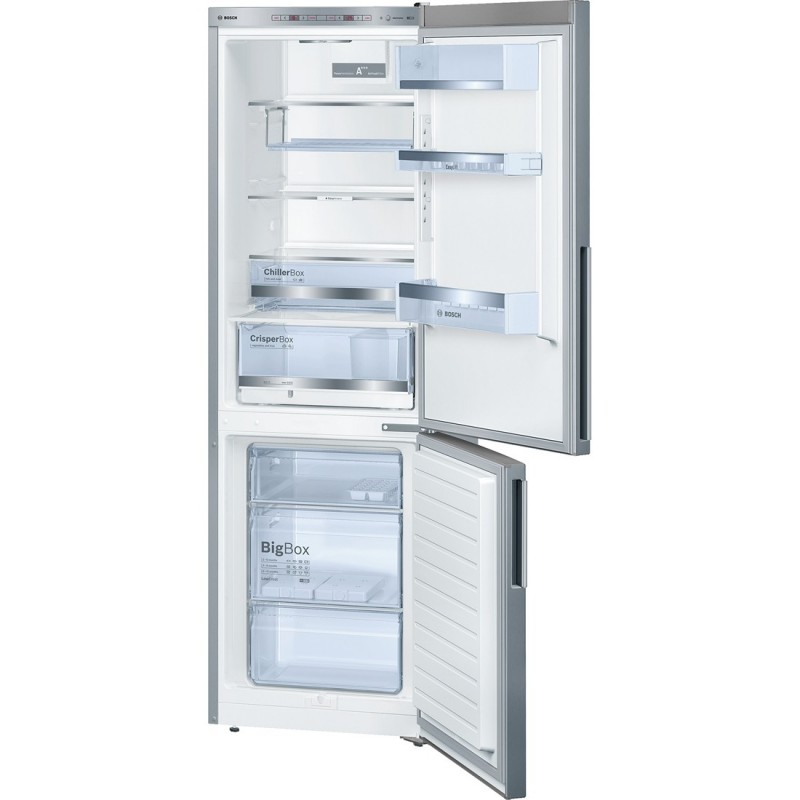 bosch kge36bl41 inox look frigo congelatore da libero. Black Bedroom Furniture Sets. Home Design Ideas