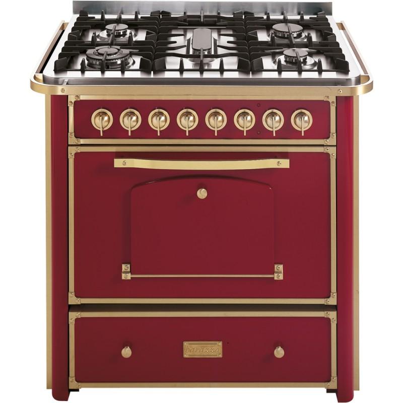 Barazza 1b90m5boom cucina bordeaux e finiture ottone da 90cm - Cucina bordeaux ...