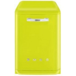 smeg LVFABLI  Dishwasher 50s, lime green.